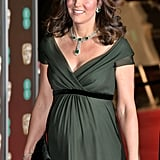 February: Kate looked absolutely stunning at the BAFTAs.
