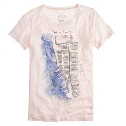 The High Line has been such a special part of my Summer, so I nearly jumped out of my seat when I learned that J.Crew would be working on a capsule collection with New York's beloved Park in the Sky. This Watercolor Map Tee ($44) is an amazing visual reminder of how beautiful the park is, and how important it's been not just to me, but to all of New York City. — JF
