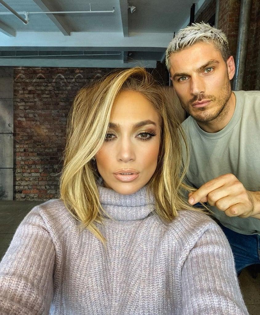 Jennifer Lopez's Blonde Lob Haircut