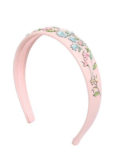 RED Valentino Flower Embellished Leather Headband ($175)