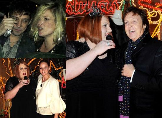 25/11/2008 Paul McCartney, Peter Kay, Kate Moss, Stella McCartney, Jamie Hince