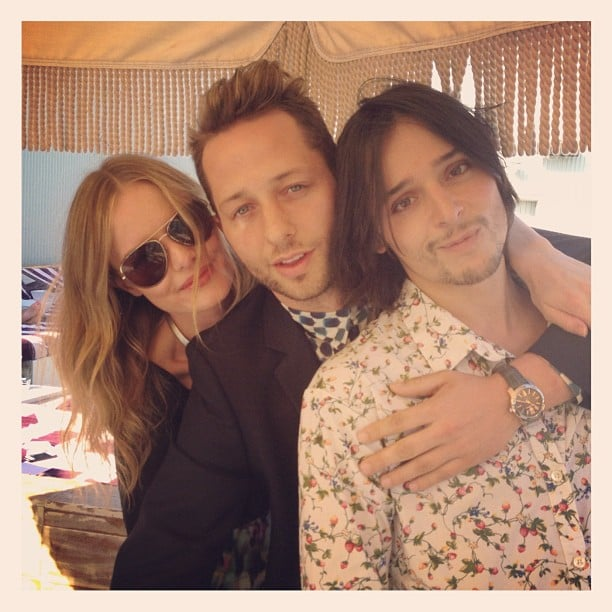 Kate Bosworth hung out with Derek Blasberg and designer Olivier Theyskens at a pool during fashion week in NYC. Source: Instagram user derekblasberg