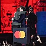 Lewis Capaldi Hugging Niall Horan on Stage at the 2020 BRIT Awards