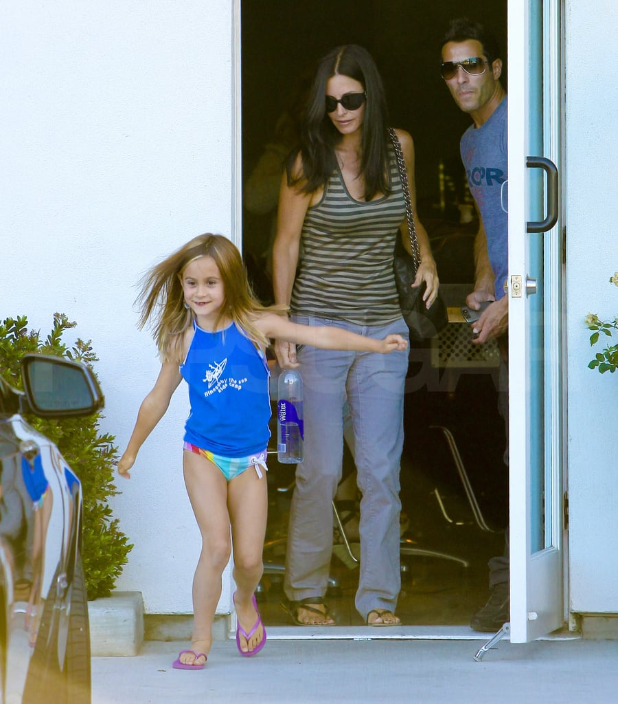 Courteney Cox hangs out with Coco Arquette.
