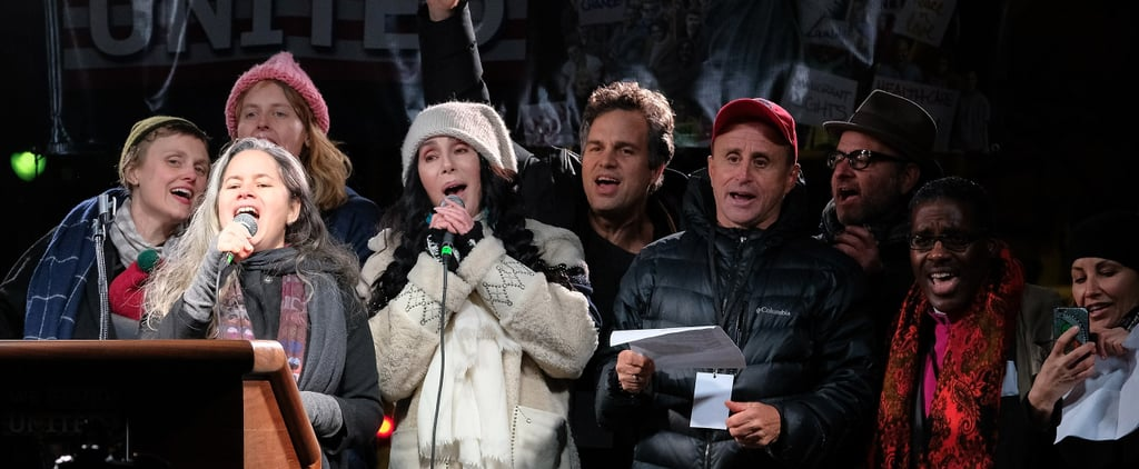 Mark Ruffalo, Cher, Shailene Woodley, and More Rally Against Trump in NYC