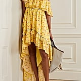 LoveShackFancy Alexia Ruffled Tiered Floral-Print Cotton-Voile Dress