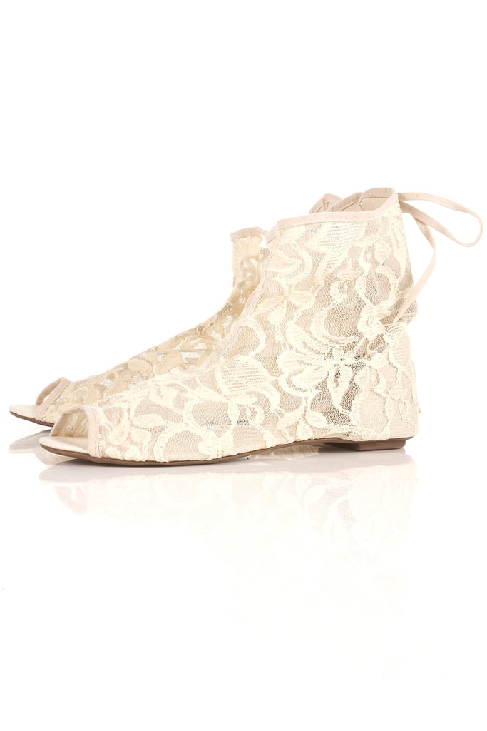 These Topshop White Lace Ankle Booties ($55) would look amazing with a floaty Summer dress.