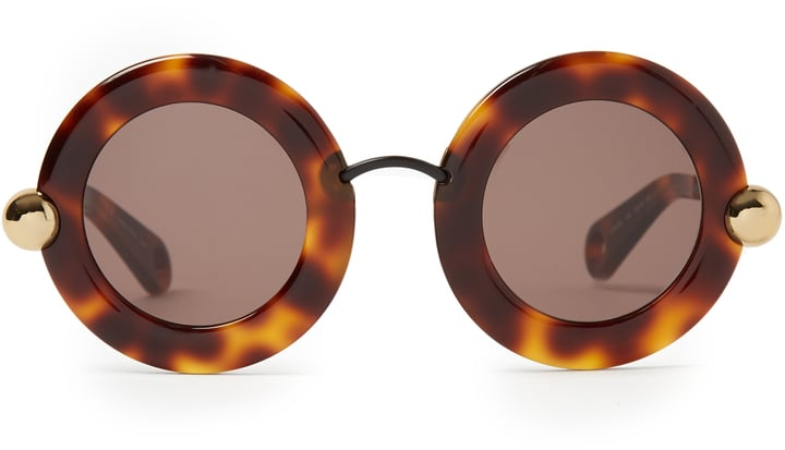 51687d21e5 Christopher Kane Round-Frame Sunglasses