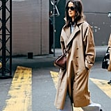 You can never go wrong with a sleek trench coat.
