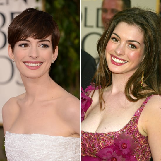 Anne Hathaway Young Pictures: Celebrities At Golden Globes