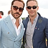 With Jeremy Piven at the Audi Polo Challenge in 2014.