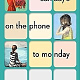 Sunday's on the Phone to Monday by Christine Reilly, April 5