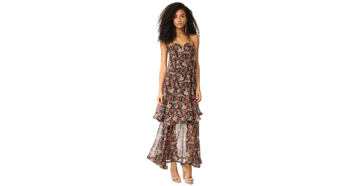 Nicholas '70s Floral Strapless Bow Dress ($750)
