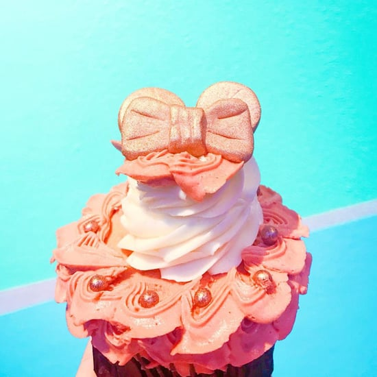 Disney Rose Gold Mouse Ears Cupcake