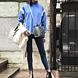Work the Combination With PVC Shoes and a Crossbody Bag