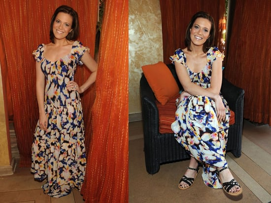 Mandy Moore Hosts the 2009 Season Opening of Tao Beach at The Venetian Wearing a Diane Von Furstenberg Maxi Dress