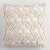 Natural Macrame Indoor Outdoor Throw Pillow