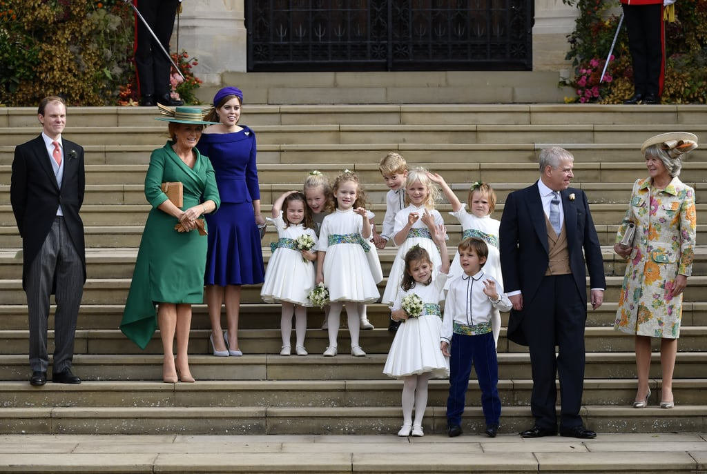 "All eyes were on Princess Eugenie and Jack Brooksbank when they tied the knot at St. George's Chapel in Windsor Castle on Friday, but there was also a spotlight on her parents, Prince Andrew and Sarah Ferguson, as well. Despite the fact that Andrew and Sarah are no longer together, the former couple have remained close, and their friendship was on display as they joined their daughter in celebrating her special day. In addition to sitting together during the ceremony, Andrew and Sarah showed a united front as they left the chapel with their daughter Princess Beatrice.  Andrew and Sarah were married for almost a decade before they divorced in 1996. Unlike most divorced couples, Andrew and Sarah are actually pals and still make appearances together. Eugenie has even said they're ""the best divorced couple"" she knows. Back in 2013, Sarah opened up about her relationship with Andrew, referring to him as ""my handsome prince."" ""We really believe in being good parents for our girls,"" she said. ""In our every day, we really respect each other and we honour each other."" Ahead, see photos of Andrew and Sarah at Eugenie's wedding.       Related:                                                                                                           35 York Family Photos That Show How Close They've Stayed After Dealing With Divorce"