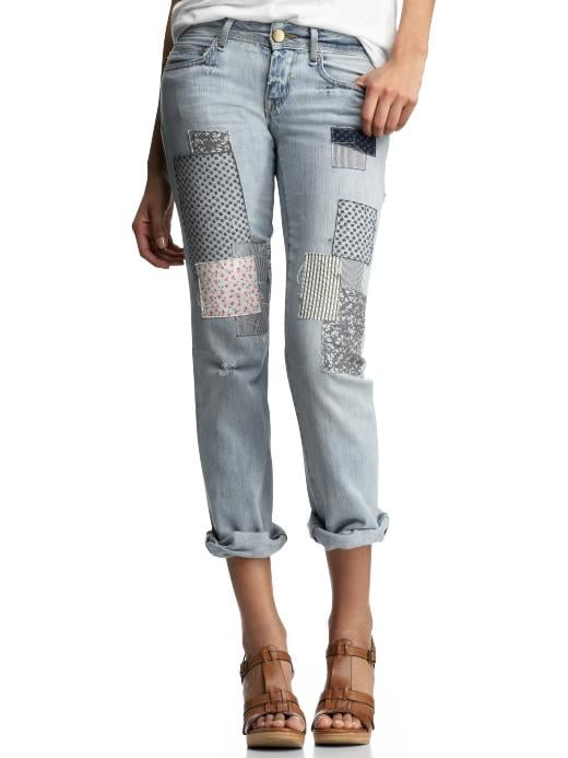 Gap Crop Patch Jeans ($45, originally $90)