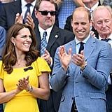 She attended the event twice, first with Meghan Markle and then with Prince William.