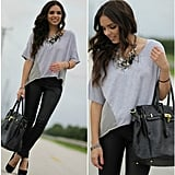 Luxe additions from a statement necklace to a chic tote score extra points.  Photo courtesy of Lookbook.nu
