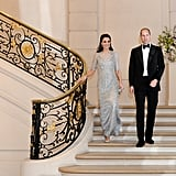 During their trip to Paris, Kate and William got all dolled up when they attended a dinner at the British Embassy.