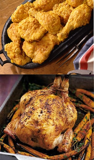 Would You Rather Eat Fried or Roasted Chicken?