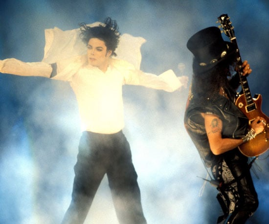"Slash played the guitar while Michael Jackson sang ""Black or White"" in 1995."