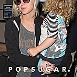 Ashlee Simpson and Bronx Wentz landed in LAX.