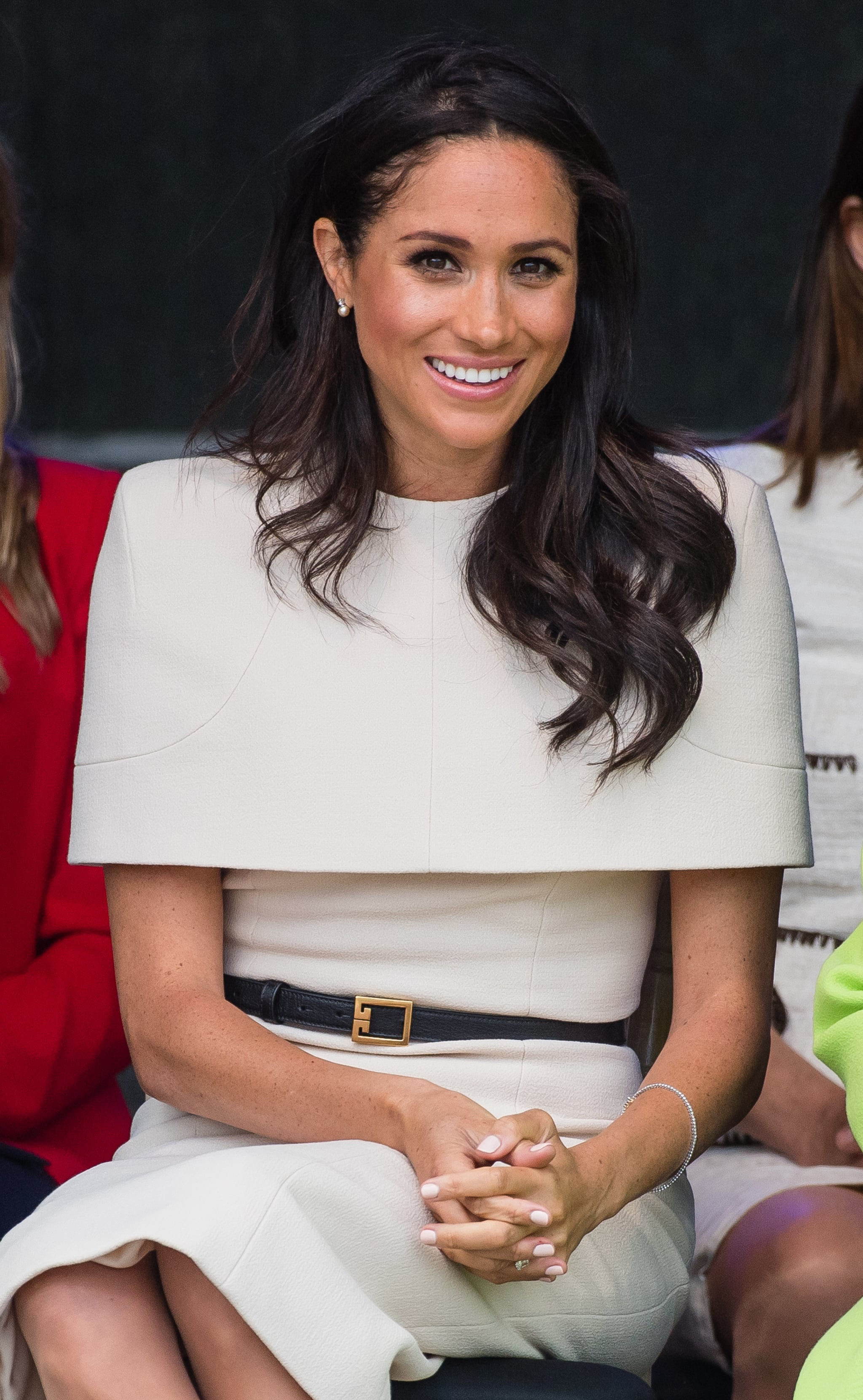 WIDNESS, ENGLAND - JUNE 14:  Meghan, Duchess of Sussex opens the new Mersey Gateway Bridge on June 14, 2018 in Widness, England.  (Photo by Samir Hussein/Samir Hussein/WireImage)