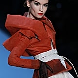 Another look from Dior's dramatic Spring Haute Couture 2011 show, teamed with an equally retro outfit.