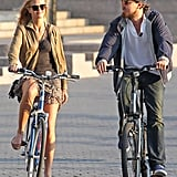 Leonardo DiCaprio and girlfriend Erin Heatherton biked together in NYC.