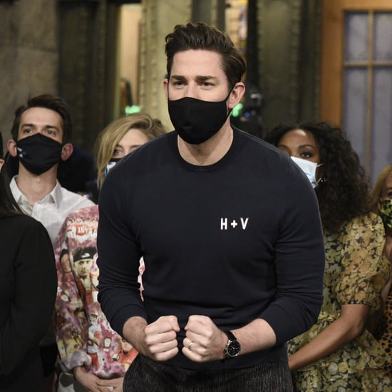 John Krasinski Wears Shirt With Daughters' Initials on SNL