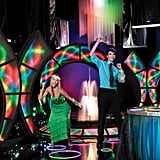 """Club Prom The Club Prom theme includes the """"Rock the Club"""" electric archway and a """"Funkified"""" fountain. Also, lots of glow-in-the-dark jewelry."""