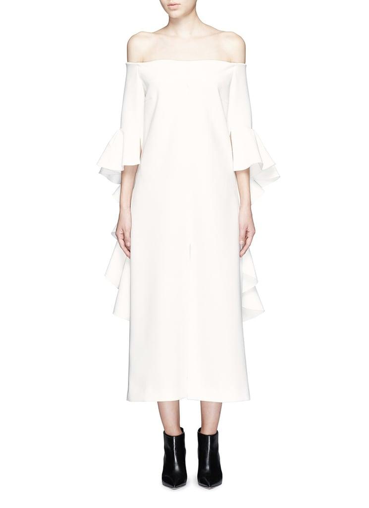 Ellery Precocious Ruffle Sleeve Midi Dress ($1,250)
