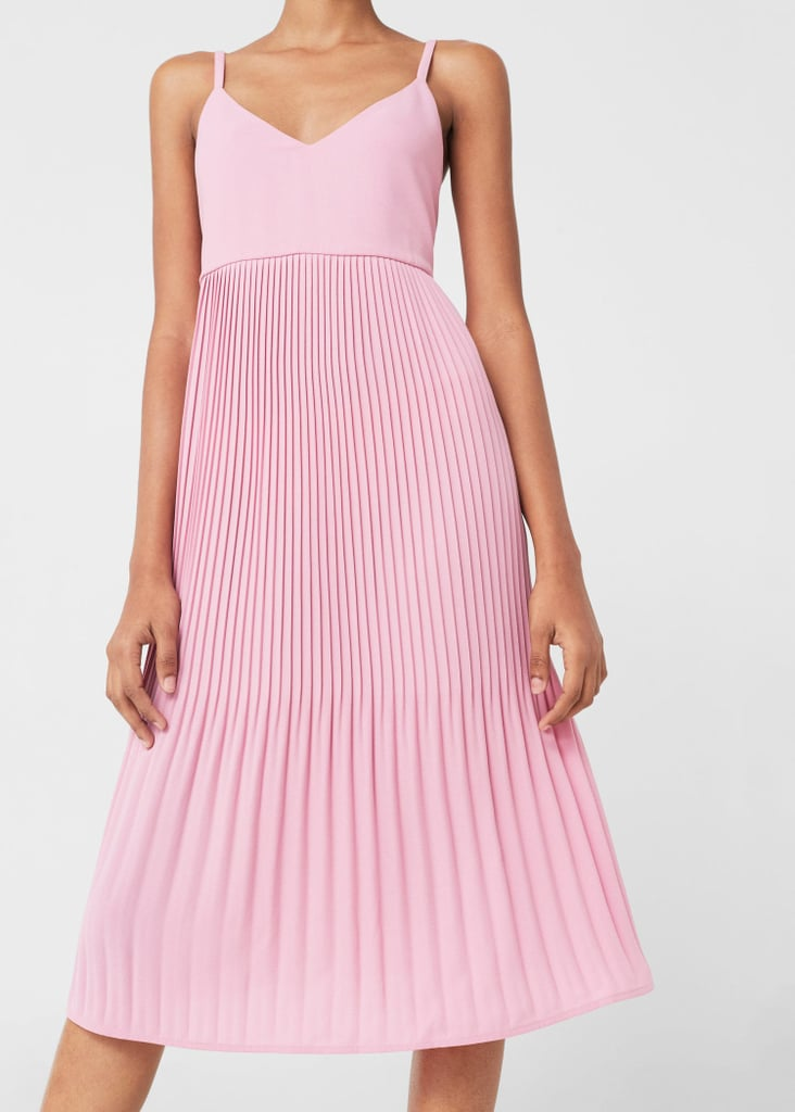 Mango Pleated Dress Affordable Wedding Guest Dresses 2017