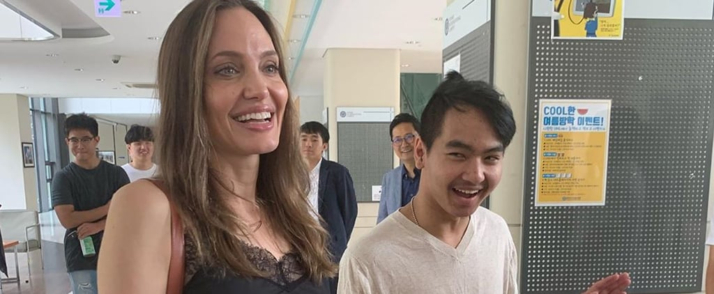 Angelina Jolie Drops Maddox Off at College Instagram