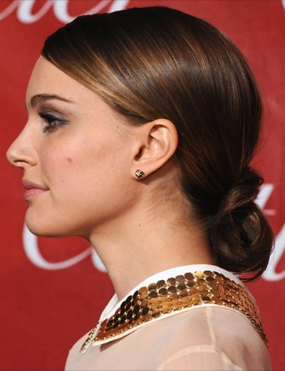 Pictures of Natalie Portman's Looped Ponytail