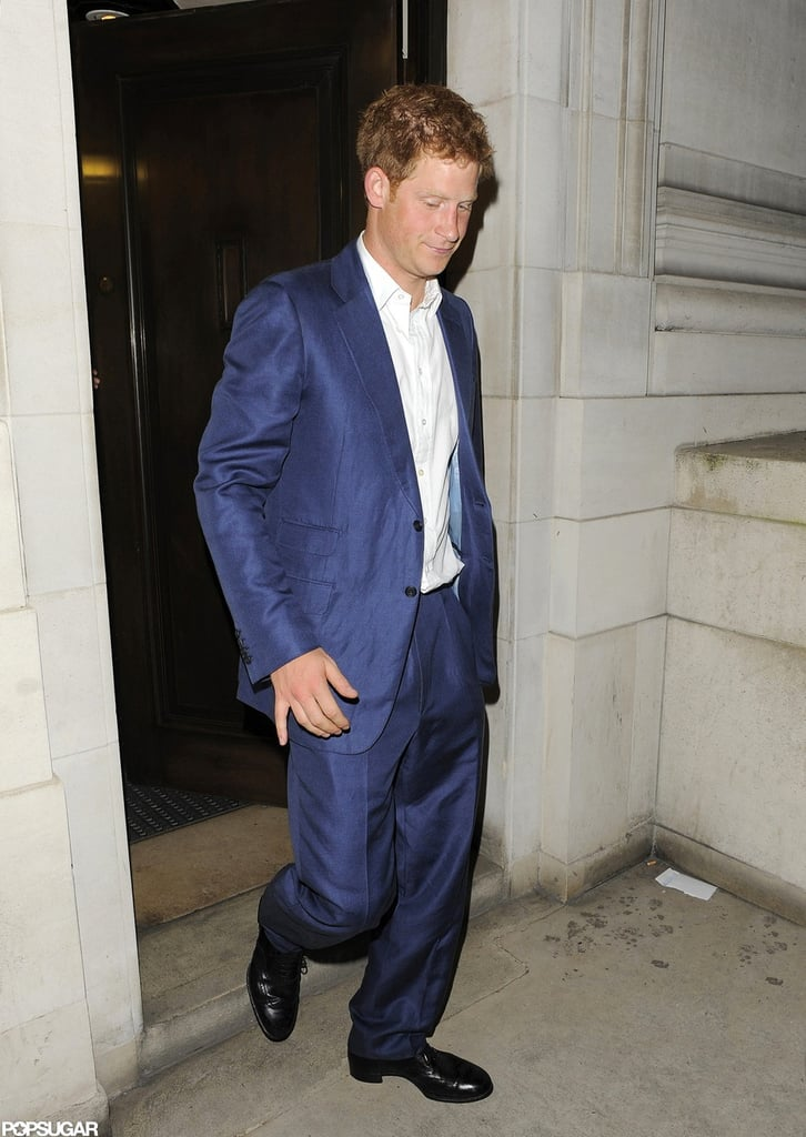 Prince Harry looked dapper for the London afterparty for The Dark Knight Rises.