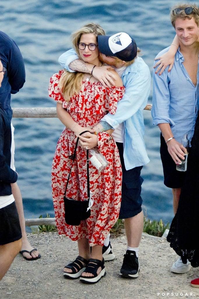 Ed Sheeran and Cherry Seaborn Kissing in Ibiza June 2019