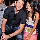 Cute couple Jamie Chung and Bryan Greenberg posed in Rebecca Minkoff's front row.