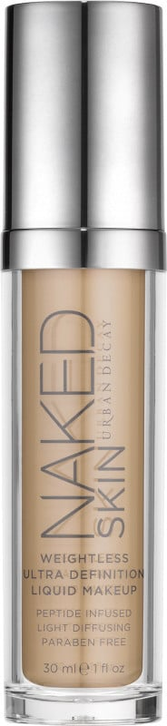 Urban Decay Naked Skin Weightless Ultra Definition Liquid Makeup ($40) comes in 24 shades.