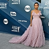Logan Browning at the 2020 SAG Awards