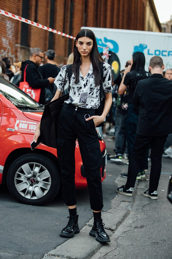 How to Style Black Cargo Pants