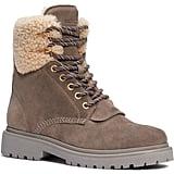 Moncler Patty Genuine Shearling Trim Boot