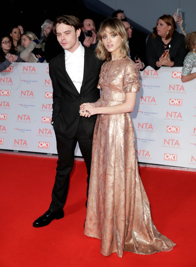 a58239d485fb Natalia Dyer s Prada Dress at the National Television Awards ...