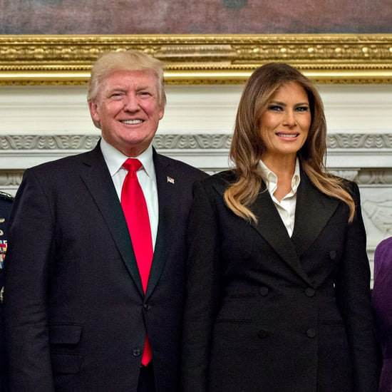 Melania Trump Wearing Black Pantsuit