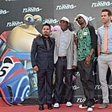 Michael Peña, Samuel L. Jackson, Snoop Lion, and Ryan Reynolds premiered Turbo.