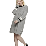 POPSUGAR at Kohl's Striped Sweater Dress in Heather Gray