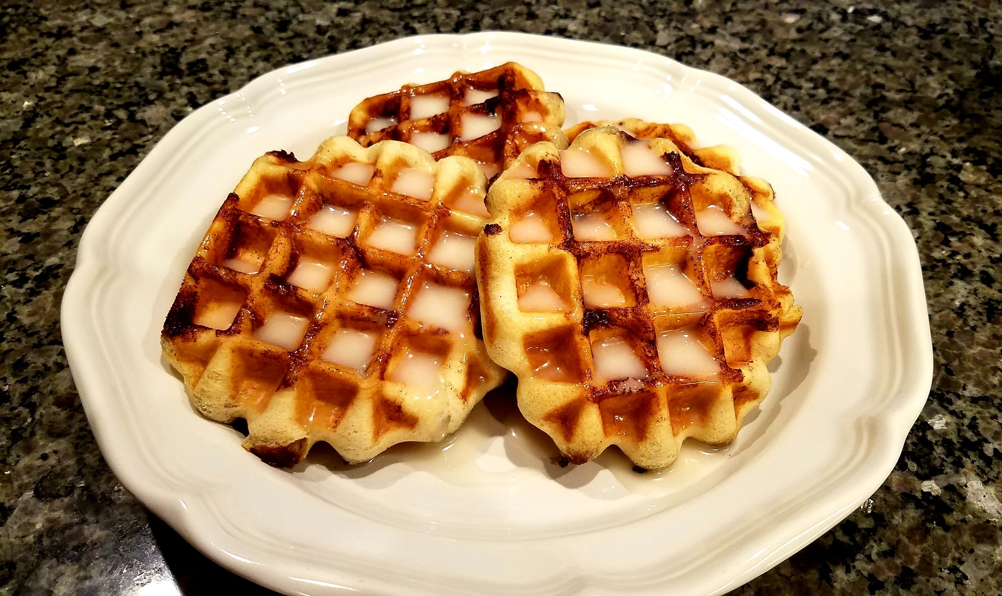 Pillsbury Grands Cinnamon Roll Waffles with Cream Cheese Glaze